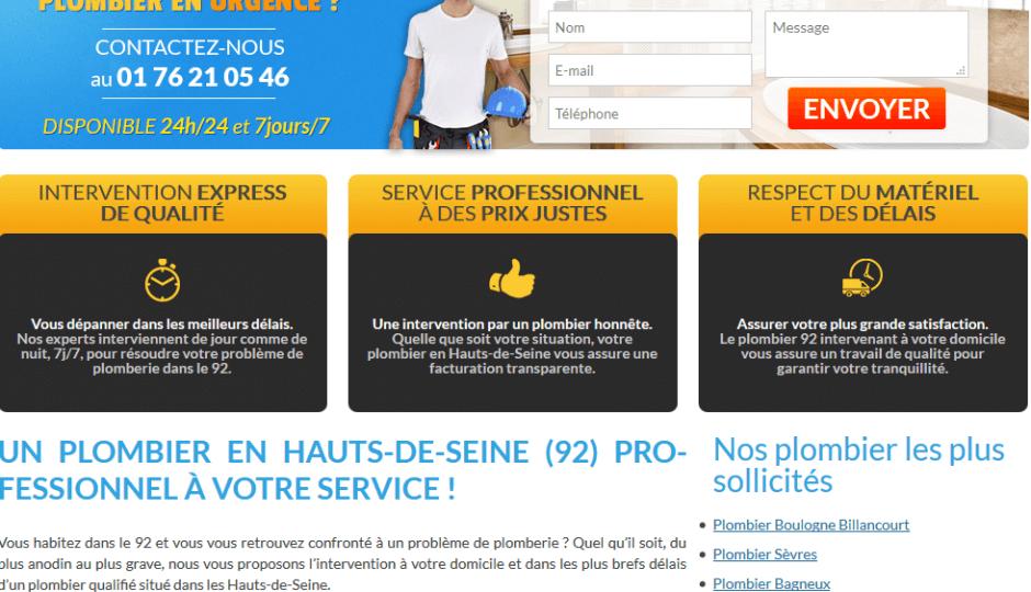 www.plombier-hauts-de-seine.com : dépannages de qualité en plomberie
