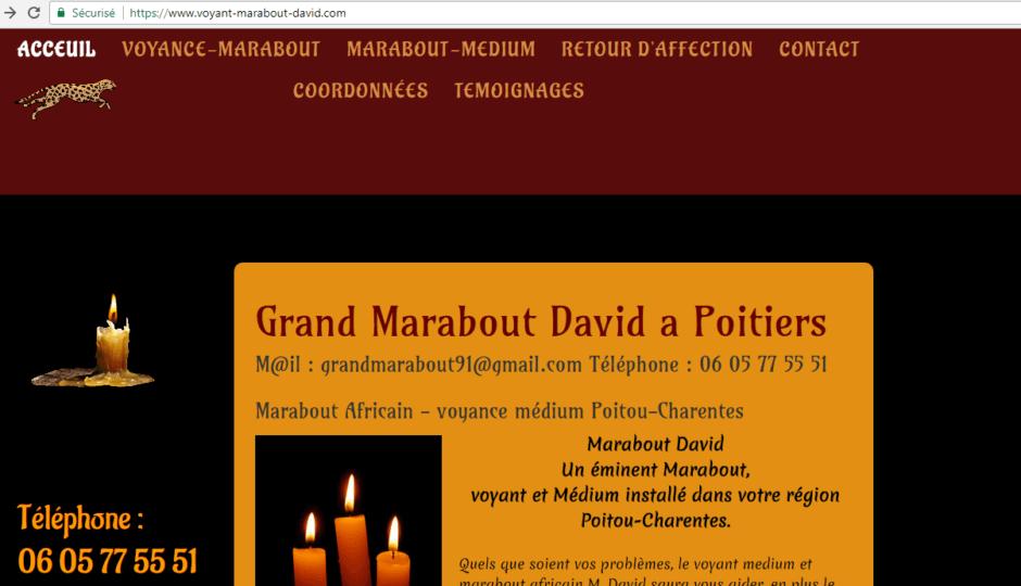 M. David, voyant et marabout africain à Poitiers