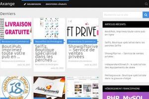 Axange.fr est un annuaire spécialisé e-commerce