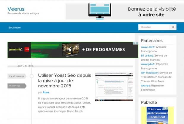 Référencez vos vidéos avec l'annuaire Veerus.fr