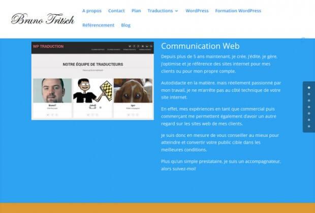 Brunotritsch.fr: site d'un spécialiste de la création de site avec WordPress & en référencement naturel en Champagne Ardenne