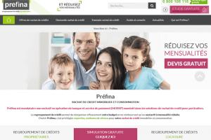 Préfina, rachat de crédit immobilier