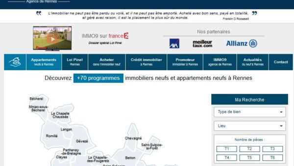 www.rennesimmo9.com : Agence immobilière de vente des biens immobiliers neufs