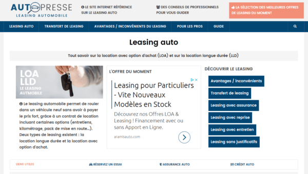Auto-Presse.fr : leasing automobile