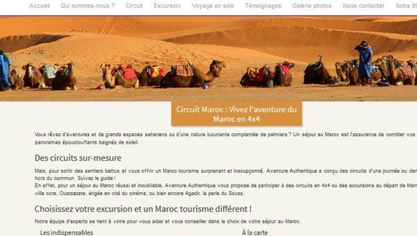 Site de l'agence Aventure Authentique