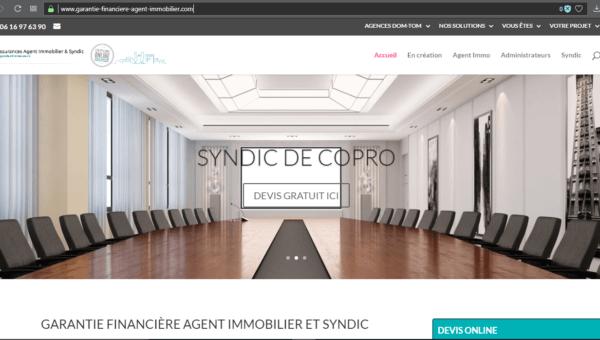 www.garantie-financiere-agent-immobilier.com : garantie financière agent immobilier et syndic