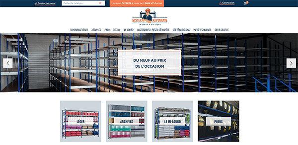 www.mister-rayonnage.com : site de vente de rayonnage industriel